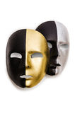 Glanzende geïsoleerder maskers Royalty-vrije Stock Foto's