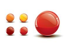 Glanzende glanzende knopen/vectorpictogram Stock Fotografie