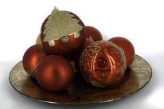 Glanzende glaubes van de Kerstmisdecoratie Royalty-vrije Stock Foto