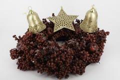 Glanzende glaubes van de Kerstmisdecoratie Stock Foto