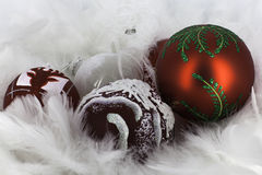 Glanzende glaubes van de Kerstmisdecoratie Royalty-vrije Stock Afbeelding