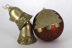 Glanzende glaubes van de Kerstmisdecoratie Stock Afbeelding