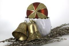 Glanzende glaubes van de Kerstmisdecoratie Stock Afbeeldingen