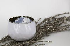 Glanzende glaubes van de Kerstmisdecoratie Royalty-vrije Stock Fotografie