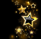 Glanzende gouden ster Royalty-vrije Stock Afbeeldingen