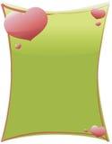 Glanzende Harten op Groen Royalty-vrije Stock Foto's