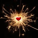 Glanzende hartstocht Royalty-vrije Stock Afbeelding