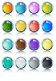 Glanzende Heldere chroomovalen in diverse kleuren Royalty-vrije Stock Foto's