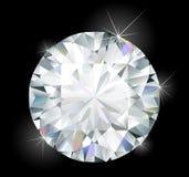 Glanzende heldere diamant Royalty-vrije Stock Afbeeldingen