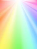 Glanzende hemel - regenbooglicht Stock Foto's