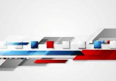 Glanzende hi-tech rode en blauwe vectorachtergrond Royalty-vrije Stock Foto's
