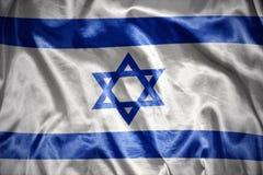 glanzende Israëlische vlag royalty-vrije illustratie
