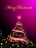 Glanzende Kerstboom royalty-vrije illustratie