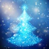 Glanzende Kerstboom Vakantiemalplaatje EPS 10 vector Stock Foto