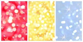 Glanzende Kerstmis abstracte achtergronden Stock Afbeeldingen