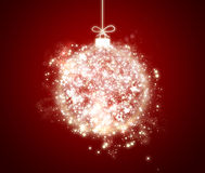 Glanzende Kerstmisbal Royalty-vrije Stock Fotografie