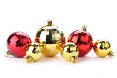 Glanzende Kerstmisballen Stock Afbeelding