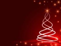Glanzende Kerstmisboom Stock Fotografie