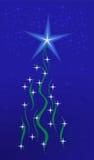Glanzende Kerstmisboom Stock Afbeeldingen