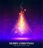 Glanzende Kerstmisboom royalty-vrije illustratie