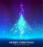 Glanzende Kerstmisboom stock illustratie