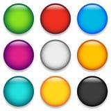 Glanzende kleurrijke cirkel, gebied, orb pictogrammen met lege ruimte in 9 royalty-vrije illustratie