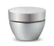Glanzende kosmetische container. Stock Illustratie