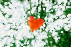 Glanzende Lichte Valentine ` s de Dagachtergrond van Hartbokeh royalty-vrije stock foto