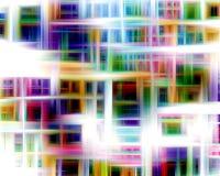 Glanzende lijnenachtergrond in kleurrijke tinten, abstracte achtergrond, fantasie royalty-vrije illustratie