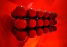 Rood en glanzend Stock Afbeeldingen