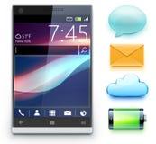 Glanzende moderne cellphone Stock Afbeelding