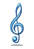 Glanzende muzieknota Royalty-vrije Stock Afbeeldingen