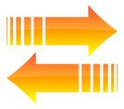 Glanzende oranje pijlen vector illustratie