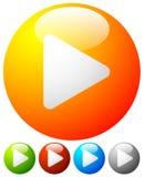 Glanzende orb spelknopen, spelpictogrammen Illustratie voor multimedia royalty-vrije illustratie