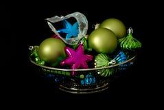 Glanzende ornamenten Royalty-vrije Stock Afbeelding