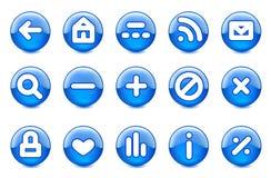 Glanzende pictogrammen stock illustratie