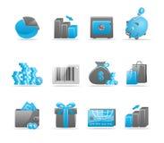 Glanzende pictogramreeks Stock Afbeeldingen