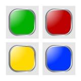 Glanzende pictogramvector Stock Foto's