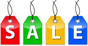 Glanzende prijskaartjes voor verkoop Stock Afbeeldingen