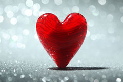 Glanzende rode hartachtergrond Royalty-vrije Stock Fotografie