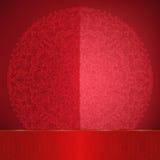 Glanzende rode kaart stock illustratie