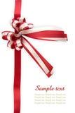 Glanzende rode lintboog Royalty-vrije Stock Afbeelding