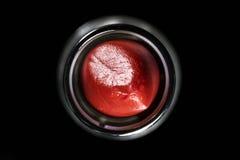 Glanzende rode lippenstift Royalty-vrije Stock Afbeelding