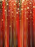 Glanzende rode muur Stock Afbeelding