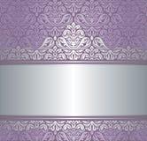 Glanzende Roze & zilveren uitstekende invitatonachtergrond van het renaissancepatroon Royalty-vrije Stock Fotografie