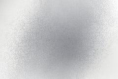 Glanzende ruwe oude zilveren metaalmuur, abstracte textuurachtergrond stock illustratie