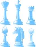 Glanzende schaakstukken Stock Foto
