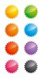 Glanzende star-shaped etiketten Royalty-vrije Stock Foto