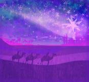 glanzende ster van Bethlehem Royalty-vrije Stock Foto's