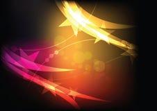 Glanzende sterachtergrond Stock Afbeelding